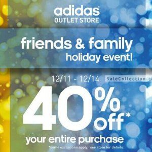 Adidas Outlet特卖40% OFF